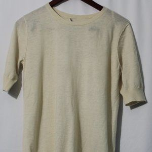 Reiss White Crew Neck T Shirt Ribbed Casual Top